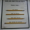 4 Type Of People Explained by Pencils