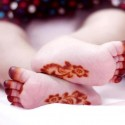 Wow Lovely Mehndi Design On Kid's Feets
