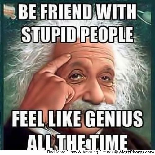 Be Friend With Stupid People