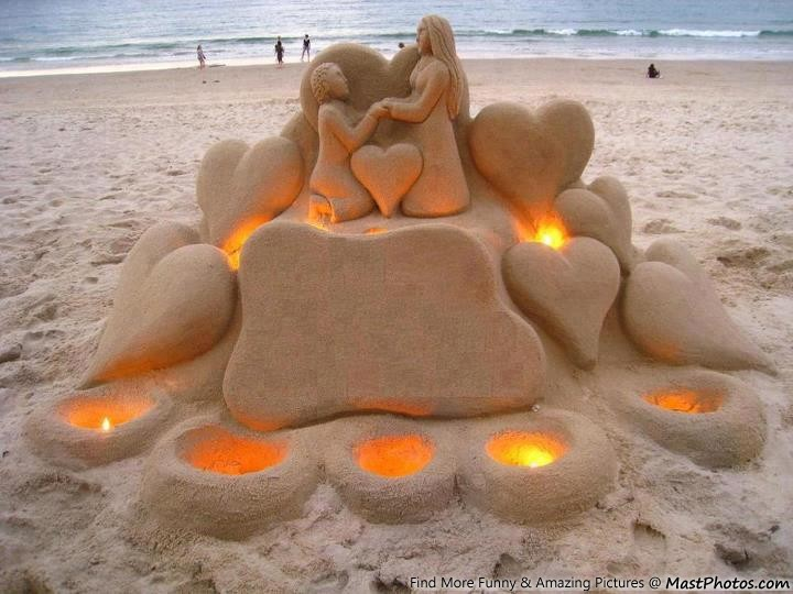 Beautiful Beach Sand Art