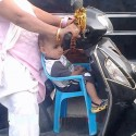 Indian Aunty's Jugaad Of Scooty
