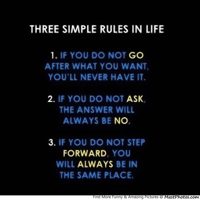 Three Simple Rules Of Life