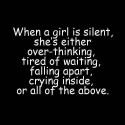 When A Girl Is Silent