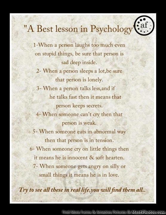 Must Try A Best Lesson In Psychology