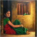 Amazing Indian Girl Painting