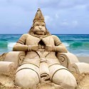 Awesome Hanuman Sand Art