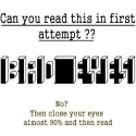 Can You Read This In First Attempt