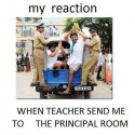 Reaction When Going To The Principal Room