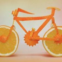 Bicycle Food Art With Oranges