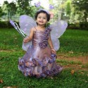 Little Purple Angel In Garden