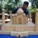 Amazing Matchstick Tajmahal Art