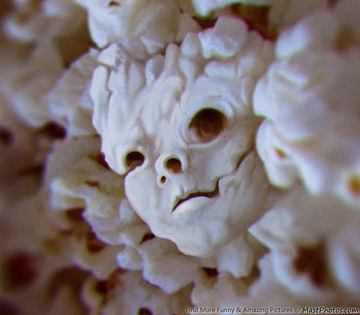 Evil Face Of Popcorn