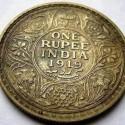 One Rupee Indian Coin In 1919