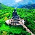 Tian Tan Buddha on Lantau Island, Hong Kong.
