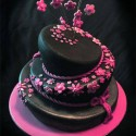 Cool Cake Design In Black And Pink