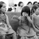 Little Girls' Reactions To The Kiss At A Wedding.