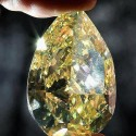 World's Largest Yellow Pear Shaped Diamond! 110kt