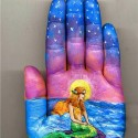 Fairy Tale Of The Little Mermaid On The Palm
