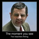 The Moment You See Two Teachers Flirting