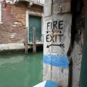 A Fire Exit In Venice, Italy