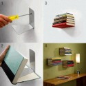 Invisible Book Shelf – Creative Idea