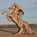 Wood Sculpture Of Horse By Erdogan Barlik