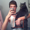 Selfshot With Cat – Hey Hands Off