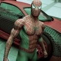 Spider Man With His Spider Car