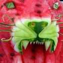 Roaring Lion Watermelon Art