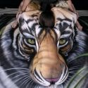 Amazing Body Painting Looks Like A Real Tiger