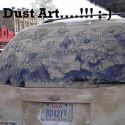 Amazing Dust Art On The Car