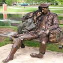 Awesome Sculpture Of A Couple By George Lundeen