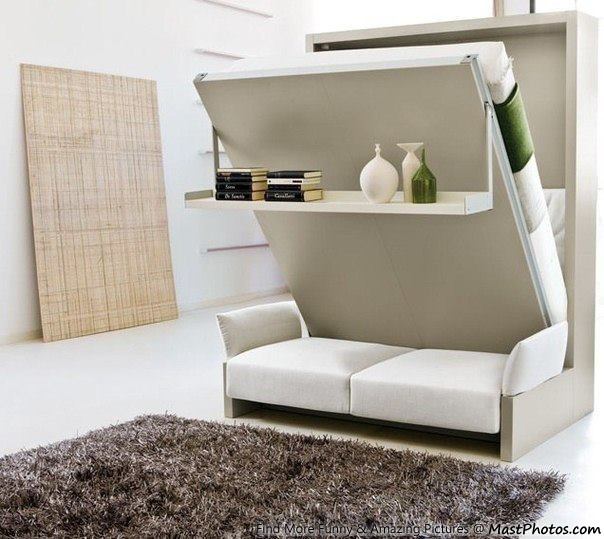 Space saving furniture creative bed cum sofa for Space saver beds ikea