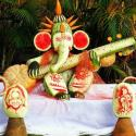 Wonderful Ganpati Ji Made By Vegetables Carving