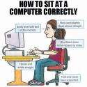 Correct Ergonomics Of Sitting At A Computer