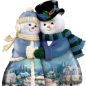 Lovely Snow Man & Woman