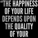 On What The Happiness Depends?