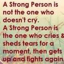Strong Person Also Cries