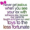 Never Get Jealous When You See Your Ex With Someone