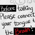 Think Before Speak