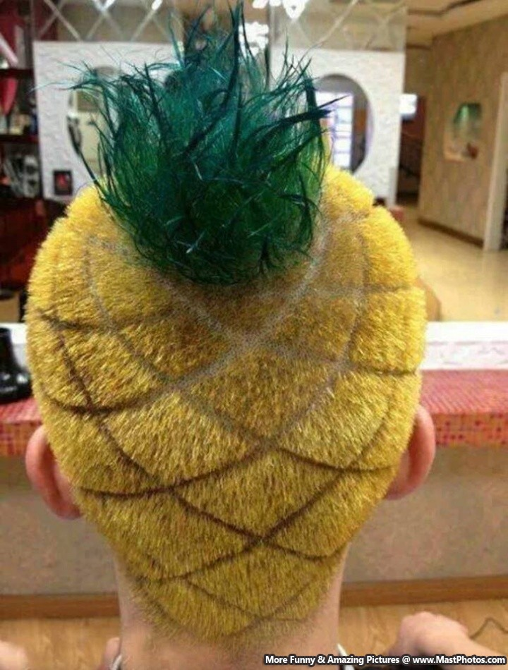 Weird Pineapple Hairstyle