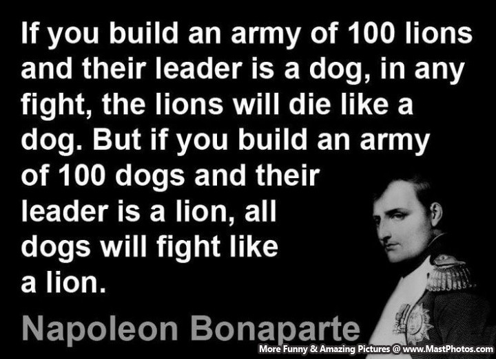 Good Leader Quotes – A Brilliant Army