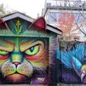 Cat Graffiti Street Art