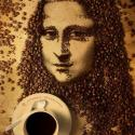 Mona Lisa Coffee Art