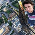 Extreme Selfie On Top Of Skyscraper
